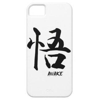 Caligrafía china japonesa DESPIERTA del símbolo Funda Para iPhone 5 Barely There