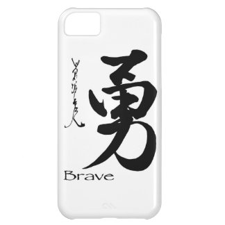 Caligrafía china japonesa VALIENTE del símbolo del Funda Para iPhone 5C