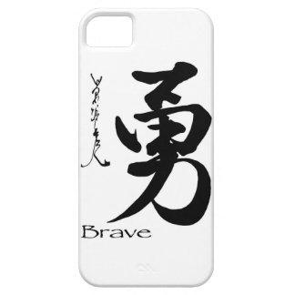 Caligrafía china japonesa VALIENTE del símbolo del iPhone 5 Funda