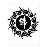 Caligrafía de Buda del chino Postal