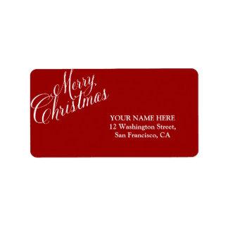 Caligrafía de las Felices Navidad