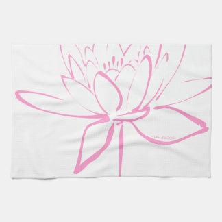 Caligrafía de Lotus (rosa) Toallas De Mano