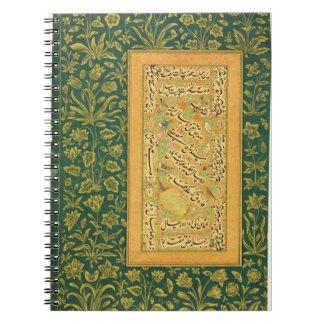 Caligrafía de Mir Ali del corazón, con un bor de M Spiral Notebook