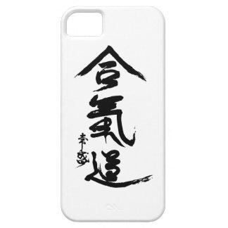Caligrafía de O'Sensei del kanji del Aikido iPhone 5 Carcasas