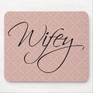 Caligrafía de Wifey Alfombrilla De Raton