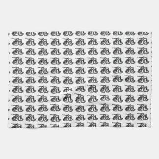 Caligrafía del árbol toallas