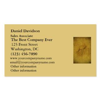 Caligrafía del pájaro del vintage en el oro plantilla de tarjeta de negocio