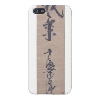 Caligrafía escrita por Miyamoto Musashi, C. 1600's iPhone 5 Funda