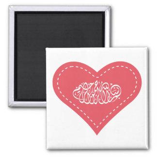 Caligrafía islámica árabe de la puntada del corazó imán para frigorífico