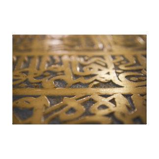 caligrafía islámica lona envuelta para galerías