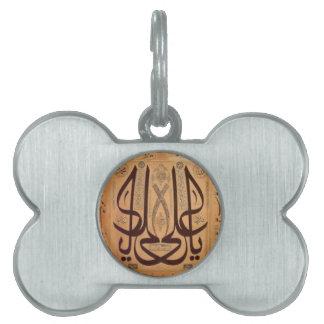 Caligrafía islámica placas de mascota