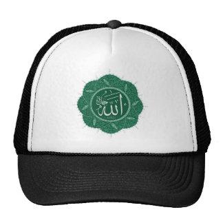 Caligrafía musulmán árabe que dice a Alá Gorra