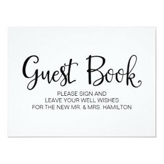 """Caligrafía simple el   """"libro de visitas"""" que casa invitación 6.5"""" x 8.75"""""""