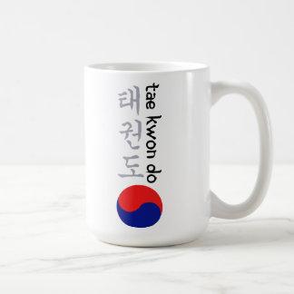 Caligrafía y símbolo coreanos del Taekwondo Taza Clásica