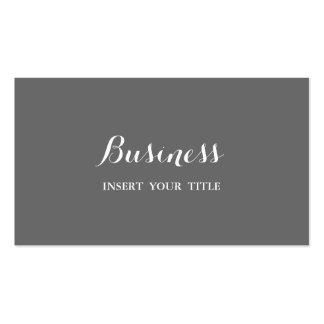 Caligráfico elegante de moda minimalista gris tarjetas de visita