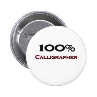 Calígrafo del 100 por ciento pin