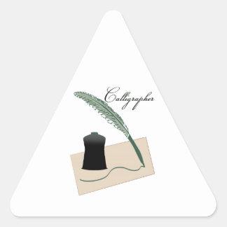 Calígrafo Pegatina Triangular