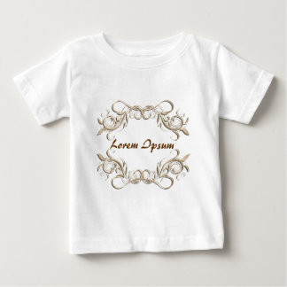 caligraphic background frame, label. baby T-Shirt