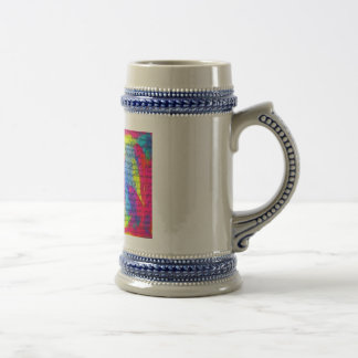Caligraphy Beer Stein