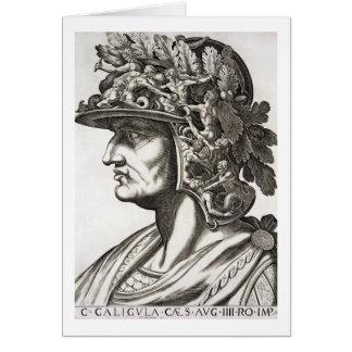 Caligula César (12-41 ANUNCIO), 1596 (grabado) Tarjeta De Felicitación