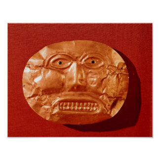 Calima funerary mask, from Restrepo, Cauca Poster