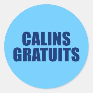 Calins Gratuits Classic Round Sticker
