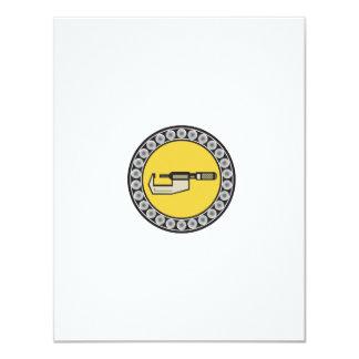 Caliper Ball Bearing Circle Retro Card
