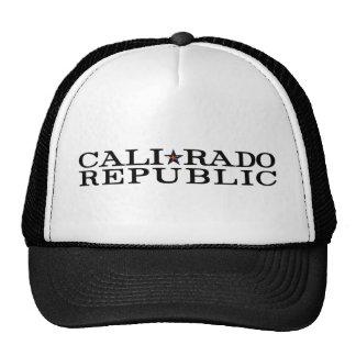 Calirado Republic Slim Letter Logo Trucker Hat
