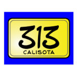 Calisota 313 License Plate Post Cards