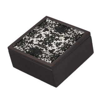 Calista Black and White Trinket Box
