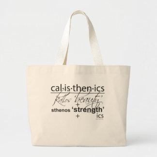 Calisthenics Large Tote Bag