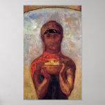 Cáliz del misterio - Odilon Redon - arte espiritua Poster