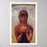 Cáliz del misterio - Odilon Redon - arte espiritua Impresiones