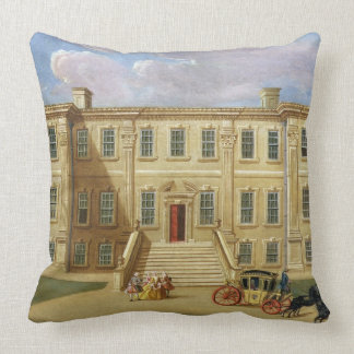 Calke Hall, Derbyshire, the Seat of Sir Henry Harp Throw Pillow