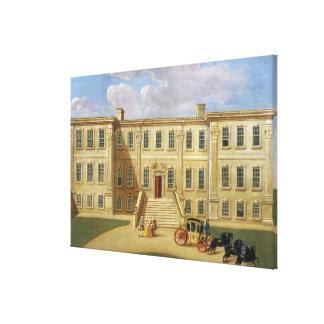 Calke Pasillo, Derbyshire, Seat de sir Henry Harp Impresiones En Lona