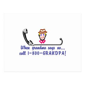 Call 800-Grandpa Postcard