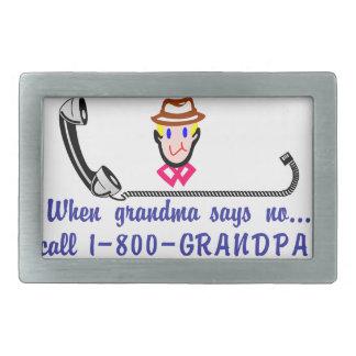 Call 800-Grandpa Rectangular Belt Buckle