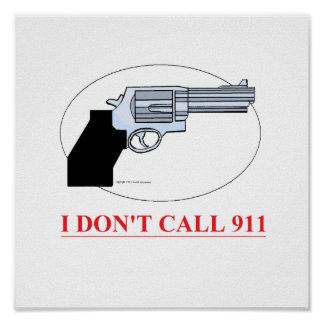 call 911 poster