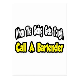 Call a Bartender Postcard