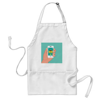 Call a Cab on Smart Phone Adult Apron