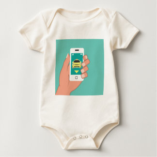 Call a Cab on Smart Phone Baby Bodysuit