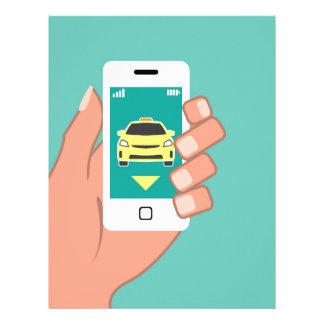 Call a Cab on Smart Phone Letterhead
