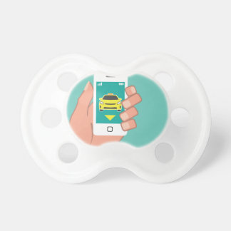 Call a Cab on Smart Phone Pacifier