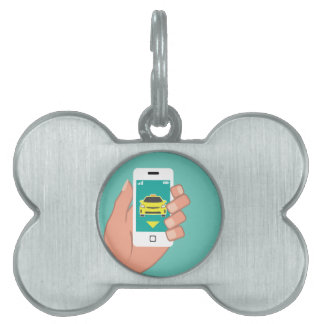 Call a Cab on Smart Phone Pet Name Tag