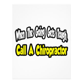 Call a Chiropractor Flyer