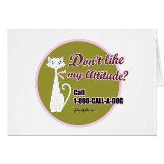 CALL-A-DOG GREETING CARD