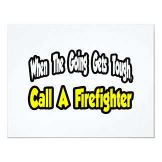 Call a Firefighter 4.25x5.5 Paper Invitation Card