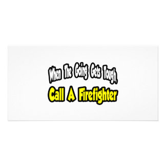 Call a Firefighter Photo Cards