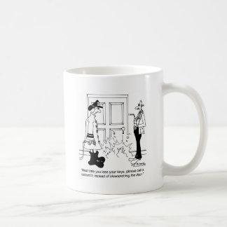 Call A Locksmith Before Using a Blowtorch Coffee Mug