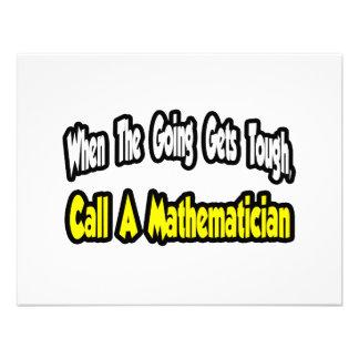 Call a Mathematician Invite